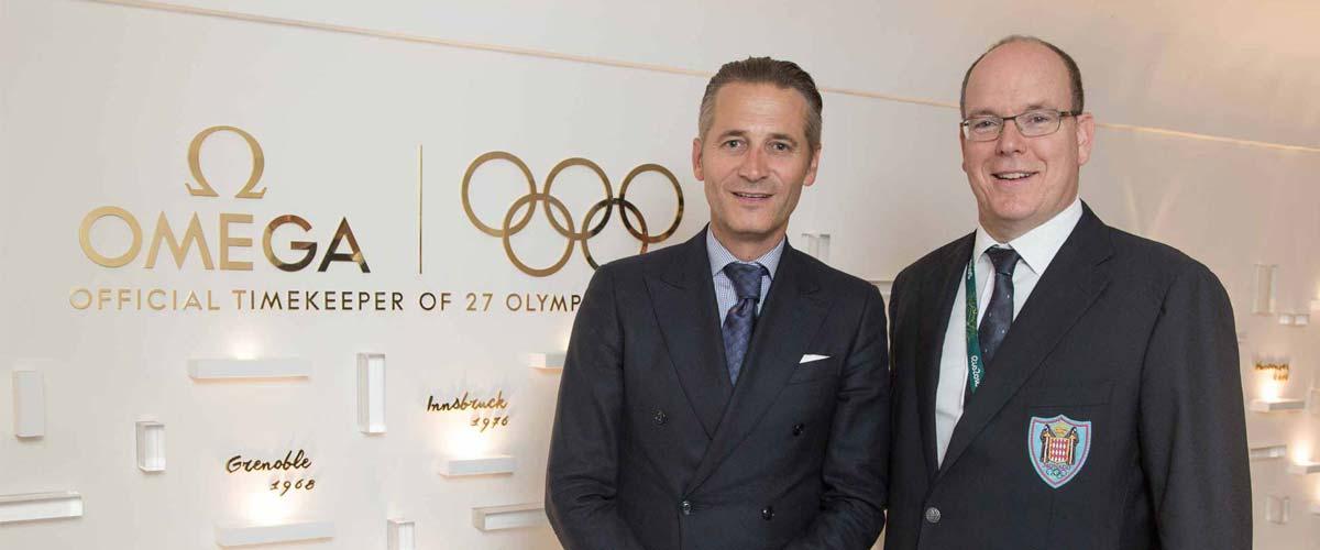 Prinz Albert von Monaco und Oskar-Gewinner Eddie Redmayne feiern Omega @ Rio, Olympia
