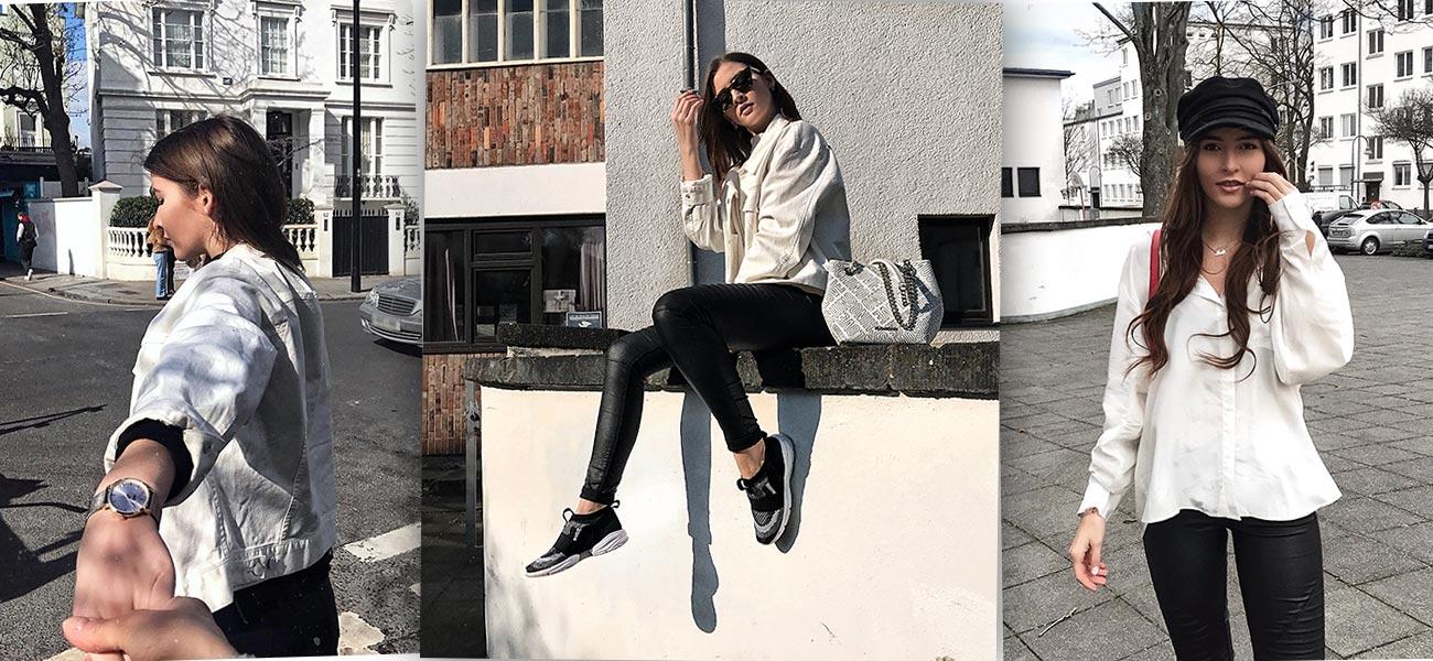 Black & White - wie man die Basics richtig kombiniert & Trend Jeansjacke