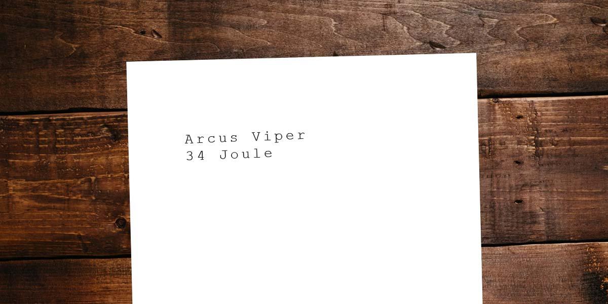 Stärkste & beste CO2 Pistole: Arcus Viper - 34 Joule