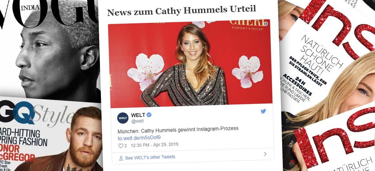 Cathy Hummels gewinnt Prozess in München: Werbung auf Instagram - Urteil