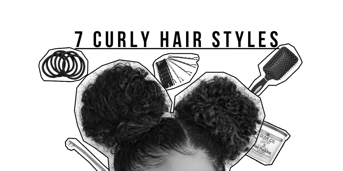 My Top 7 Curly Hair Styles: Alles von Messy bis Sleeky Bun