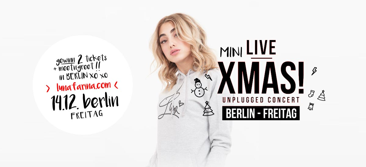 14.12. Luna Farina Live in Berlin: Gewinne 2x Meet'n'greet + Tickets