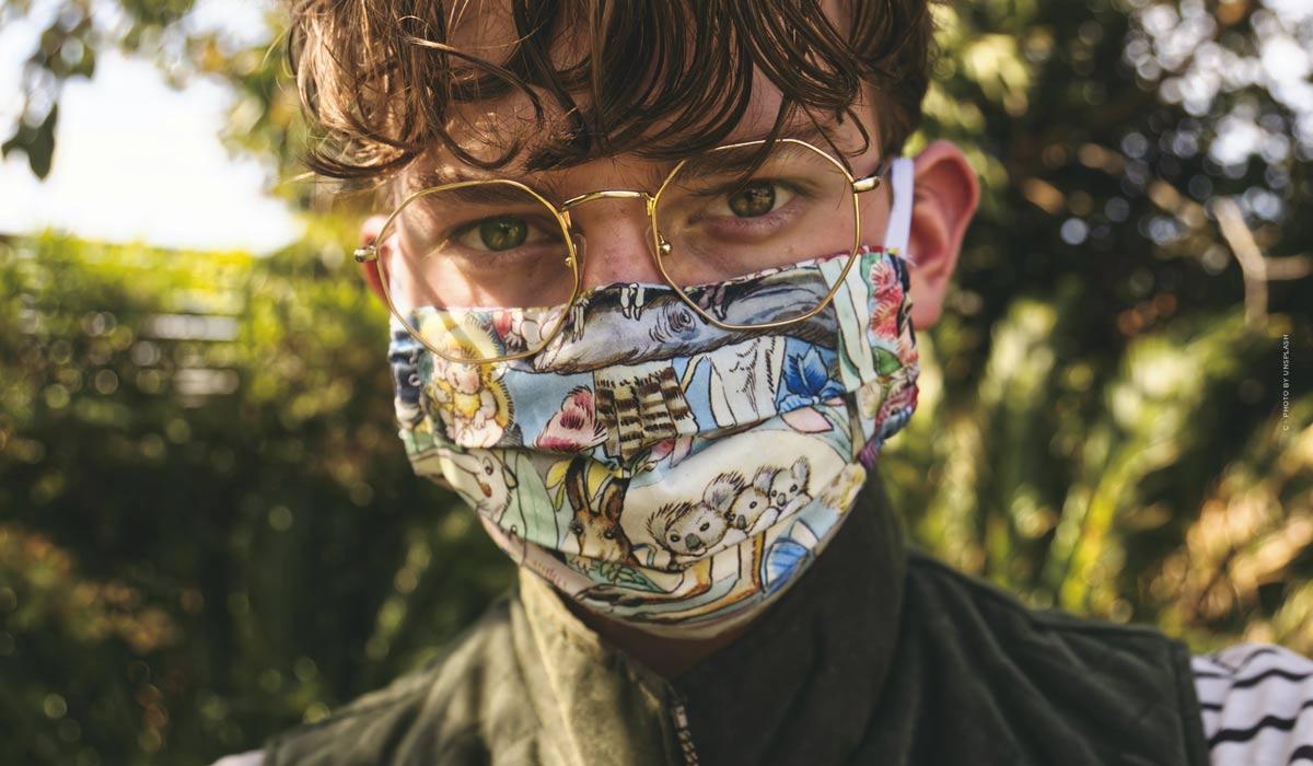 Mundschutz Masken selber nähen: aufregende Muster, waschbare Stoffe & detaillierte Anleitungen