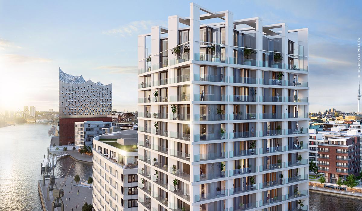 The Crown: Luxusimmobilien Hamburg HafenCity - Eigentumswohnungen mit Blick auf Elbphilharmonie! Neubau